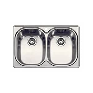 Franke CPX620 Compact Double Bowl Drop In Kitchen Sink In Stainless