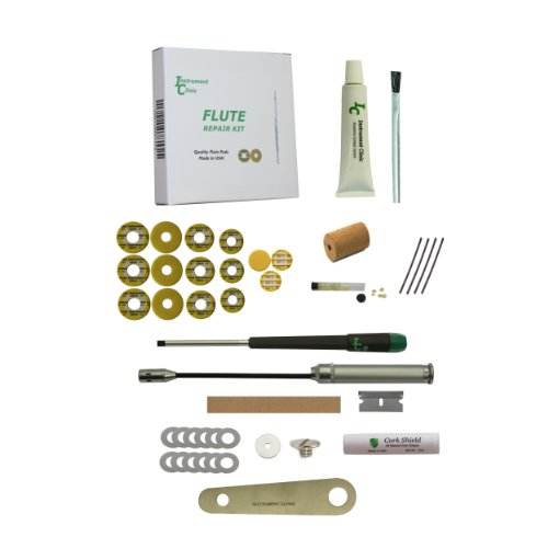 Premium Instrument Clinic Flute Pad Kit, With Head Cork, Leak Light, Pad Iron, Fits Artley Open Hole Flutes front-181581