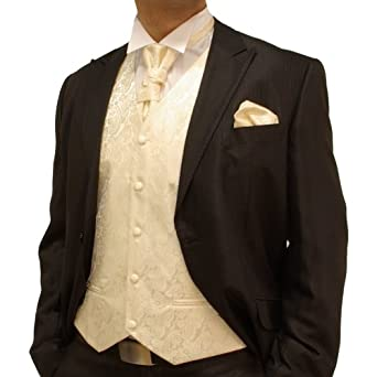 Paul Malone Champagne Wedding Tuxedo Vest Set