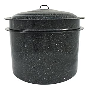 Granite Ware 6323-1 33-Quart Crab and Crawfish Cooker with Steamer and Drainer Insert, 3-Piece