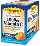 Emergen C 1,000mg Vitamin C Super Orange (30 sachets, 24 nutrients)