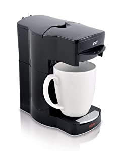 Café Valet Black Single Serve Coffee Brewer, Exclusively for use with Café Valet Coffee Packs by Courtesy Brands LLC