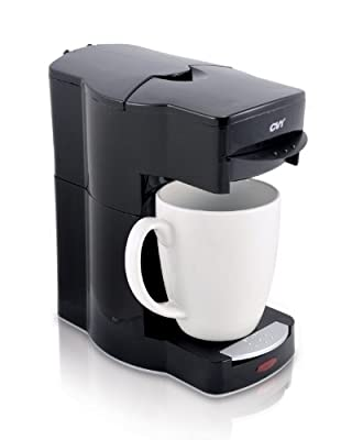 Café Valet Black Single Serve Coffee Brewer, Exclusively for use with Café Valet Coffee Packs from Courtesy Brands LLC