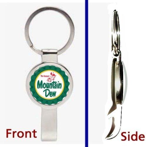 retro-classic-mt-dew-mountain-man-yaa-hoo-logo-pennant-or-keychain-silver-tone-secret-bottle-opener-