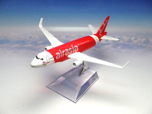 飛行機 模型 ダイキャスト製/航空機:エアアジア/マレーシア NOW EVERYONE CAN FLY エアバスA320
