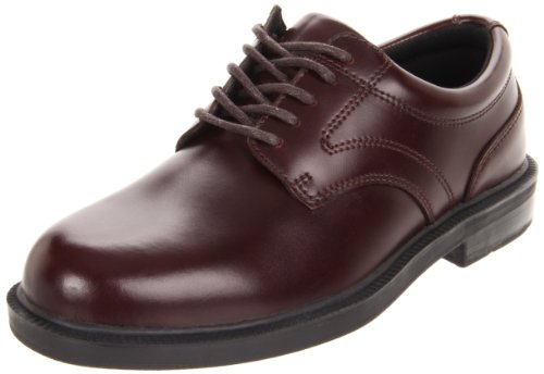 Deer Stags Men's Times Plain Toe Oxford,Brown,10 M