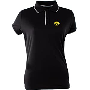 Antigua Ladies Iowa Hawkeyes Elite Desert Dry Xtra-Lite Moisture Management Piq by Antigua