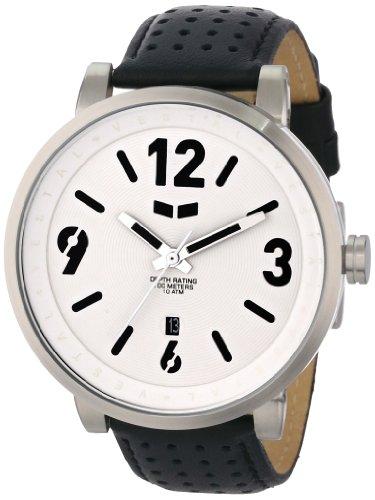 Vestal Men'S Dpl006 Doppler Slim Black And White Watch