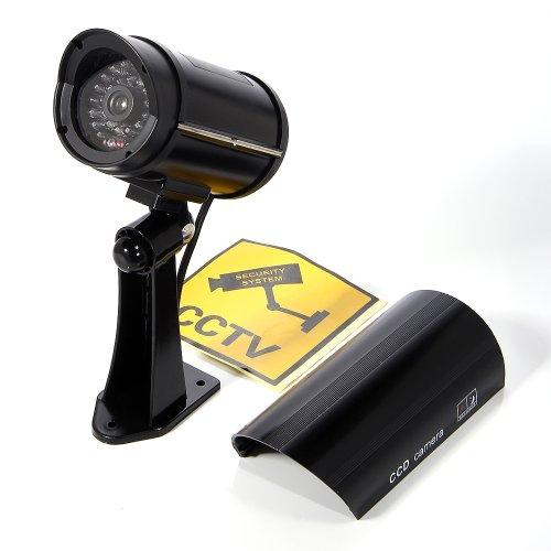 M-zone TW02 - Imitazione di telecamera a circuito chiuso, per interno ed esterno, con luce ...
