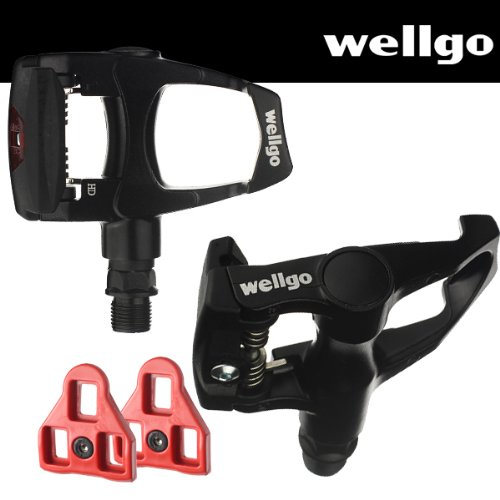 Wellgo Road Bike Pedals Look ARC Compatible with Cleats Black