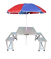 Bamko Foldable Outdoor Picnic Table with Umbrella
