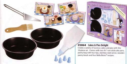 Toysmith Bella Bistro Cakes and Pies Delight Baking Set - 10 Pieces - 1