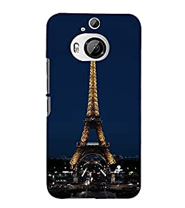 99Sublimation Effie Tower At Night 3D Hard Polycarbonate Back Case Cover for HTC One M9 Plus