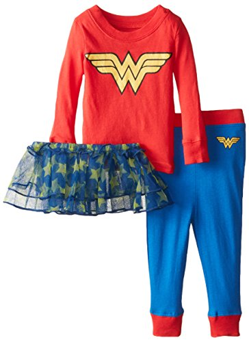 DC Comics Baby Girls'' Wonder Woman Tutu Sleep Set