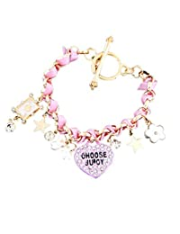 8 Republic London Mother's Day Special Juicy Inspired Heart Bow Poker Multi-Charms Bracelet For Women