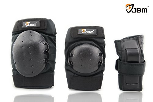 JBM® Sports Protective Gear safety pad Safeguard (Knee Elbow Wrist) Support Pad Set equipment for Adult roller bicycle BMX bike skateboard extreme sports bogu protector Guards Pads