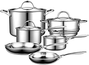 Cooks Standard Multi-Ply Clad Stainless-Steel 10-Piece Cookware Set