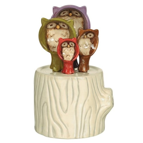 Owl Hollow Ceramic Measuring Spoons/holder