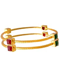 Zeneme Ethnic & Exquisite Designer Gold Plated Jewellery Bangle For Women And Girls