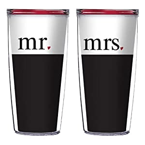 Mr. and Mrs. 16 oz Signature Tumblers - Great for Wedding and Anniversary Gifts by Signature Tumblers