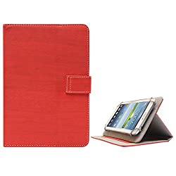 DMG Premium Folio Case Cover with Stand View for Zync Cloud Z605 Dual Core Calling Tab (Red)