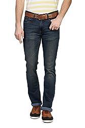 V Dot Men's Formal Trousers (8907445896613_VDDN316D06067_36W x 32L_Dark Blue Solid)