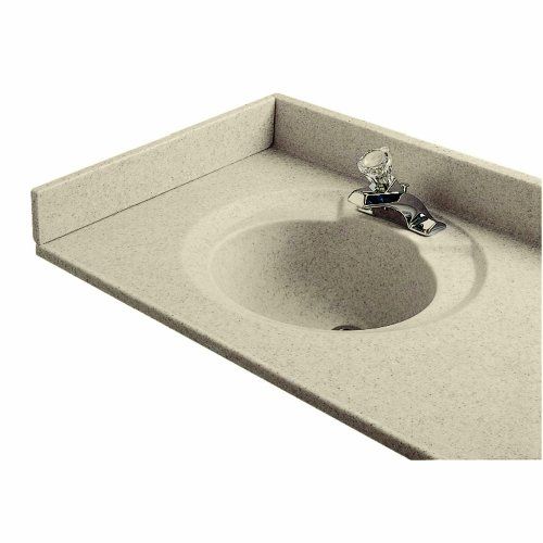 American Standard CMB8234.641 Cultured Marble 22-Inch Left Hand Side Splash, Sand Granite