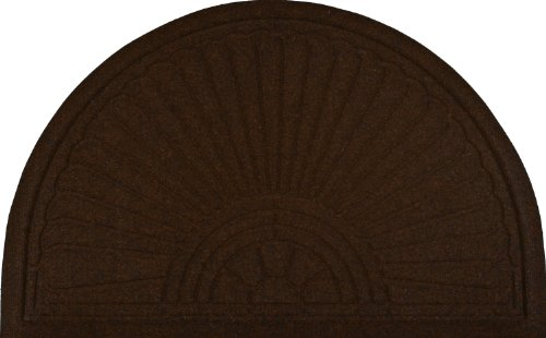 013891 Relief Außenfußmatte Halbrund 55 x 85 cm, braun
