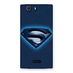 Ajay Enterprises Styles Super S Blue Back Case Cover for Canvas Nitro 2 E311