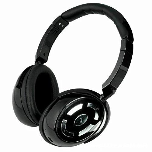Best_Express Hi-Fi Stereo Headwearing Wireless Bluetooth Headset Hifi Mp3 Music Bluetooth Headphone V4.0+Edr (Piano Black)