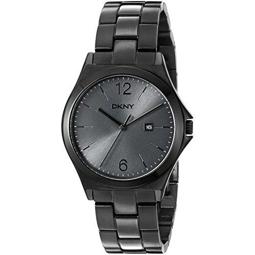DKNY  NY2369 - Reloj de cuarzo con correa de acero inoxidable para mujer, color gris