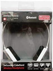 Swiss Voice Cube Band Wireless Headset (White)