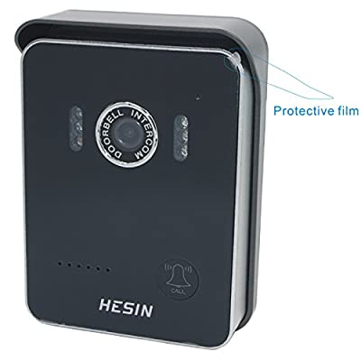 HESIN WiFi Doorbell,wireless Doorbell Wireless IP intercom interfone peephole camera,wifi video doorbell with the system android ,ISO