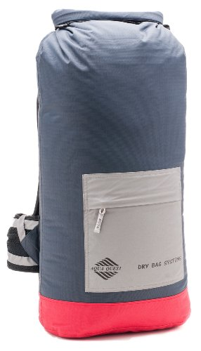 Aqua-Quest 'The Rio' Waterproof Backpack Dry Bag – 40L / 2440 cu. in. Charcoal Model