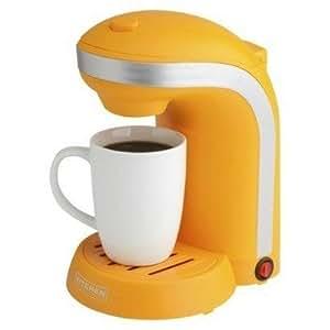 Drip Coffee Maker Vs Single Serve : Amazon.com: Kitchen Selectives Color Single Serve Coffee Maker - Orange: Drip Coffeemakers ...