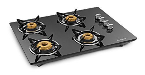 Sunflame CT HOB 4 Burner- Black Counter-Top Hob / Gas Stove
