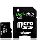 Digi-Chip 64 GO CLASS 10 UHS-1 MICRO-SD CARTE MÉMOIRE POUR HTC One M8, HTC Butterfly S, 8XT et HTC One Max