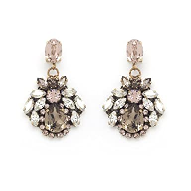 Crystal Cluster Drop Earrings by Anton Heunis