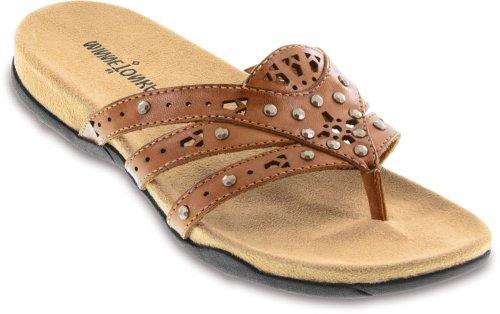 Minnetonka Women's Freemont Dress Sandal,Saddle,8 M US