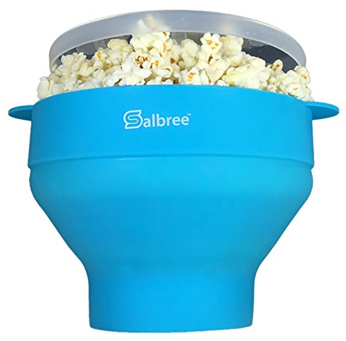 Salbree Collapsible Silicone Microwave Popcorn Popper, Turquoise (Star Popcorn Machine Switch compare prices)