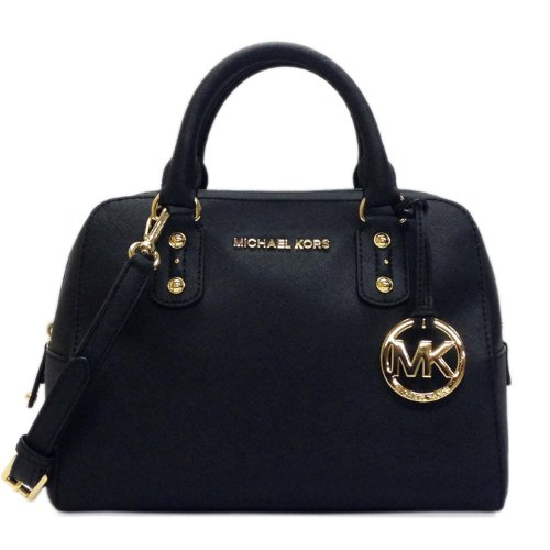 Michael Kors Small Saffiano Leather Satchel Black