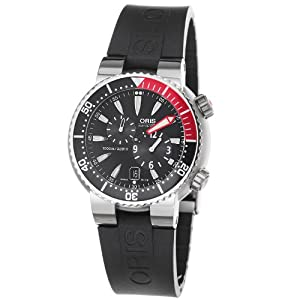 Oris Men's 7164RS TT1 Pro Diver 1000m Black Dial Rubber Strap Watch