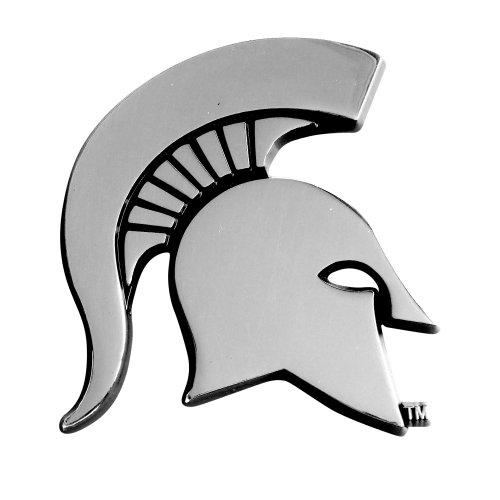 FANMATS NCAA Michigan State University Spartans Chrome Team Emblem (Michigan State Car Mats compare prices)