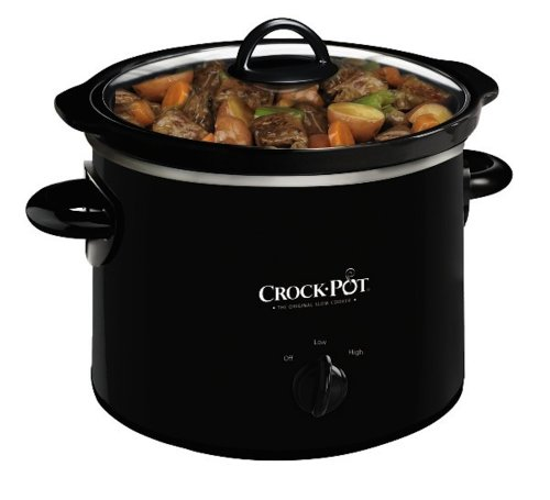 Crock-Pot SCR200-B Manual Slow Cooker, 2 Quart (Slow Cooker Hot Pot compare prices)