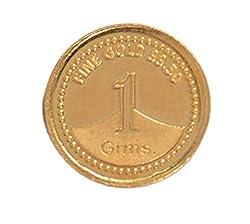 A Himanshu BIS Hallmarked 1 grams 24k (995) Yellow Gold Precious Coin