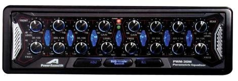 Brand New Power Acoustik Pwm-30M 6 Band In-Dash Preamp Parametic Car Audio Equalizer With Sub Controls, 8 Volt Line Driver, Crossover, Front Aux Input Dual Color (User Preset) Illumination And Motorized Pop-Out Buttons!
