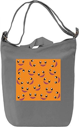 Cartoon Turtle Faces Borsa Giornaliera Canvas Canvas Day Bag| 100% Premium Cotton Canvas| DTG Printing|