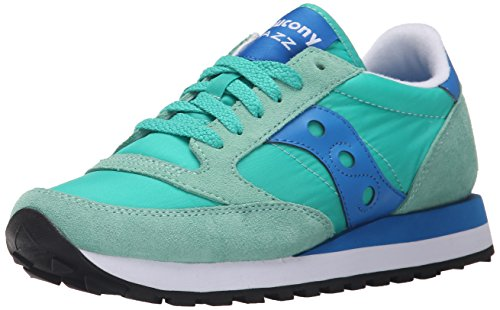 Saucony Jazz Original, Scarpe  Low-Top, Donna, Verde (Lite Green/Blue), 37.5 EU