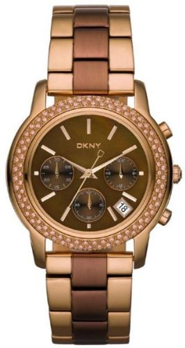 DKNY Glitz Brown Mother-of-Pearl Dial Women's Watch #NY8433