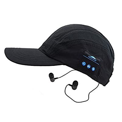 Wireless Bluetooth Baseball Cap Sun Hat Outdoor Sports Wireless Bluetooth Baseball Hat Wireless Hands-Free Bluetooth Headset Phone Call Answer with Earphones Stereo Speakers Bluetooth Trucker Hat Hiking Hat